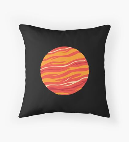 Bound for Planet Bacon… Throw Pillow