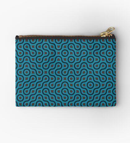 Blue Pattern  Zipper Pouch