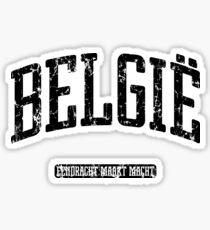 België (Black Print) Sticker