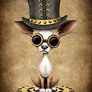 Netter Steampunk Chihuahua-Hündchen von jeff bartels