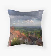 Gold Hill Portrait Throw Pillow