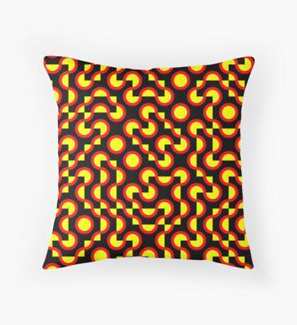 Truchet Tiles v009 - People Power Throw Pillow
