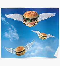 Fliegende Cheeseburger Poster
