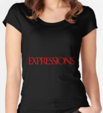 Red Expressions Logo Fitted Scoop T-Shirt