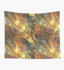 Warm Golden Layer Wall Tapestry
