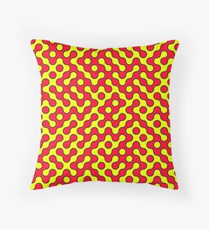 Red & Yellow Truchet Throw Pillow