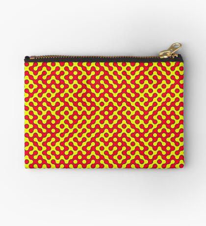 Red & Yellow Truchet Zipper Pouch