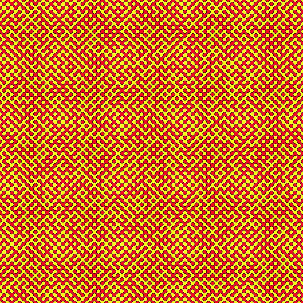Red & Yellow Truchet by Rupert Russell