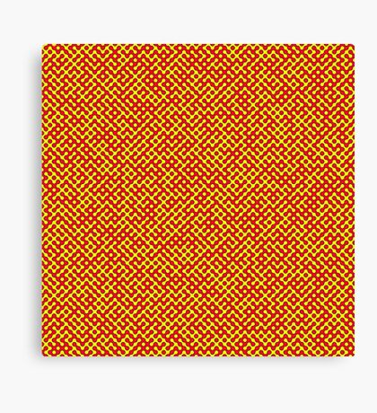 Red & Yellow Truchet Canvas Print