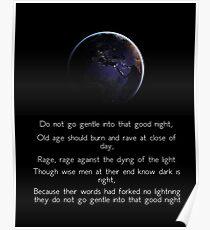 Wut, Wut gegen das Sterben des Lichts Poster