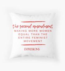 Second Amendment Equality Throw Pillow