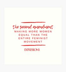 Second Amendment Equality Art Print