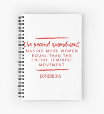 Second Amendment Equality Spiral Notebook
