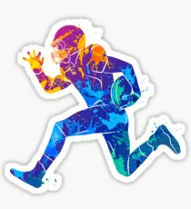 Colorful Football Player Sticker