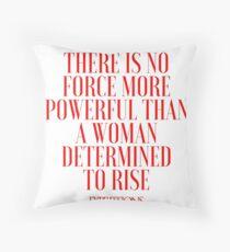 Powerful Woman Throw Pillow
