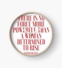 Powerful Woman Clock