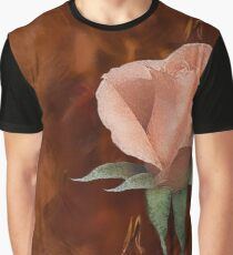 Blushing Petals of the Rose Graphic T-Shirt