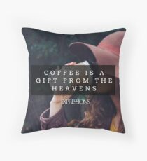 Coffee is a gift Throw Pillow