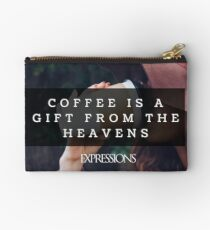 Coffee is a gift Zipper Pouch