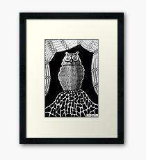 257 - THE OWL - DAVE EDWARDS - INK - 2015 Framed Print