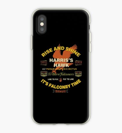 Harris's Hawk falconers Shirt - Rise and Shine It's Falconry Time II iPhone Case