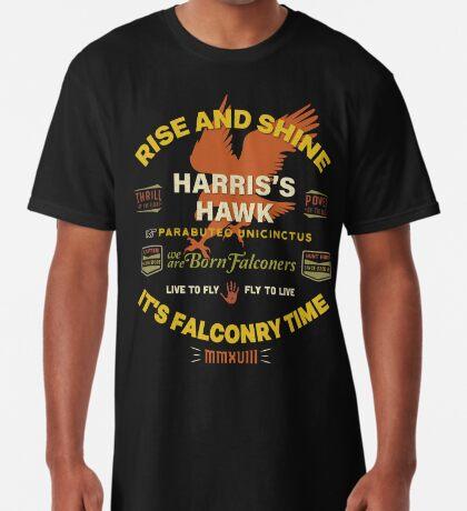 Harris's Hawk falconers Shirt - Rise and Shine It's Falconry Time II Long T-Shirt