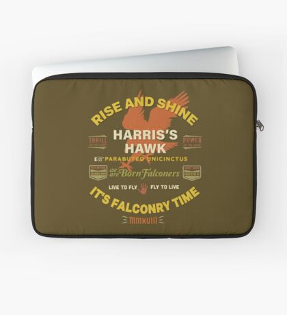 Harris's Hawk falconers Shirt - Rise and Shine It's Falconry Time II Laptop Sleeve