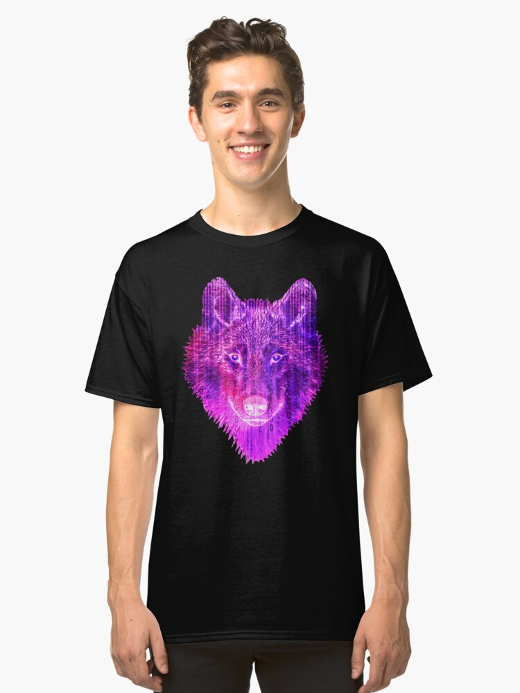 Cyber Wolf Classic T-Shirt Front
