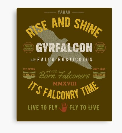 Gyrfalcon Falconry for Falconers Who Fly Gyrfalcons  Canvas Print