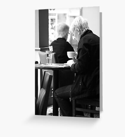 A Coffee and a Read Greeting Card