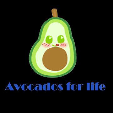 Kawaii Avocado by mikistarlight