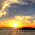 Birubi Beach Sunset Panorama by Mike Salway
