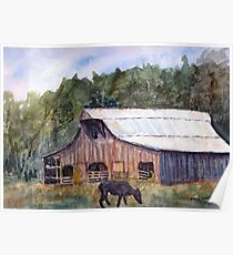 Spring On The Farm - Rural Watercolor Landscape Poster