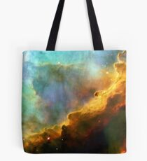 Space storm Messier 17 Tote Bag