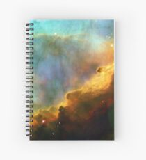 Space storm Messier 17 Spiral Notebook