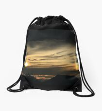 Cloudy with a Chance of Rainbow Drawstring Bag