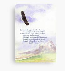 Hope & Strength, Isaiah 40:30-31  Metal Print