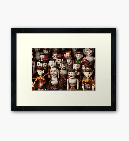 Water Puppets - Hanoi, Vietnam Framed Print