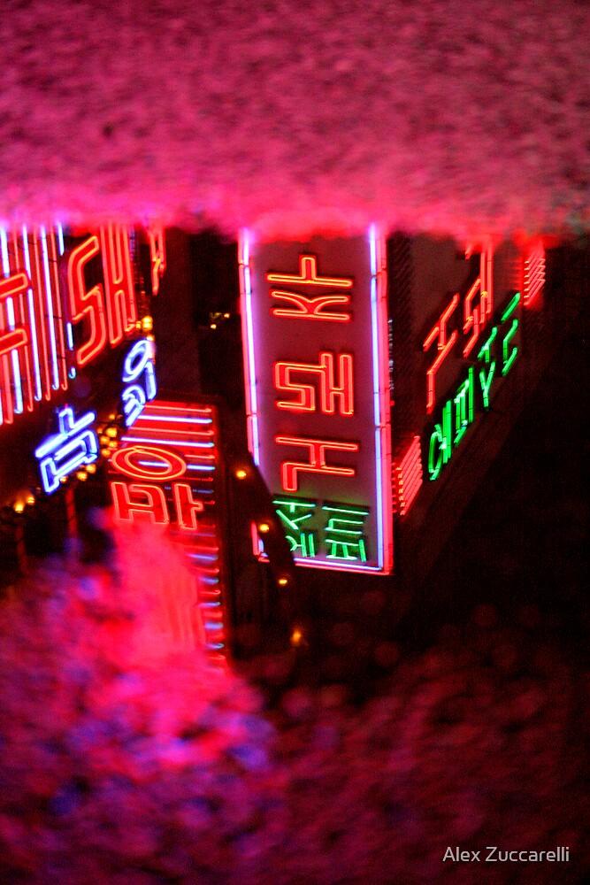 Neon Puddle - Busan, South Korea by Alex Zuccarelli