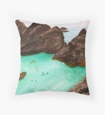 Bermuda. 20 x 24 Acrylic Painting Throw Pillow