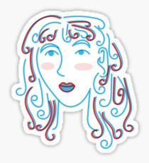 Girl Sticker
