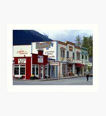 Alaska Landscape, Skagway Gold Rush Town Art Print