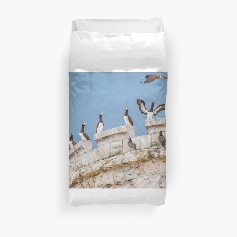 No room on the tower Duvet Cover