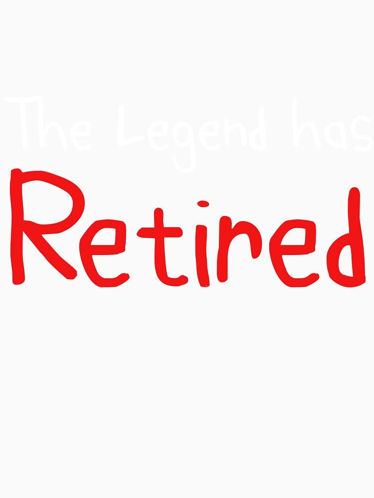 La leyenda se ha retirado Gift Idea Funny Retiro de regalo de DogBoo