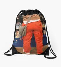 Orange Trousers Drawstring Bag