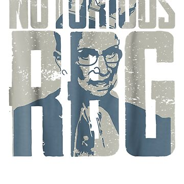 Notorious RBG Outline T-Shirt by Nonatee