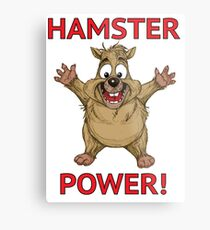 Hamster Power Metal Print