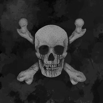 Jolly Roger Pirate Skull Grunge by GrizzlyGaz