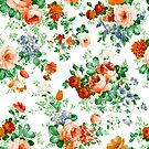 Colorful Flowers And Roses Pattern by artonwear