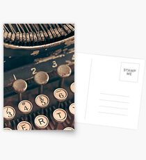 Vintage Typewriter Postcards